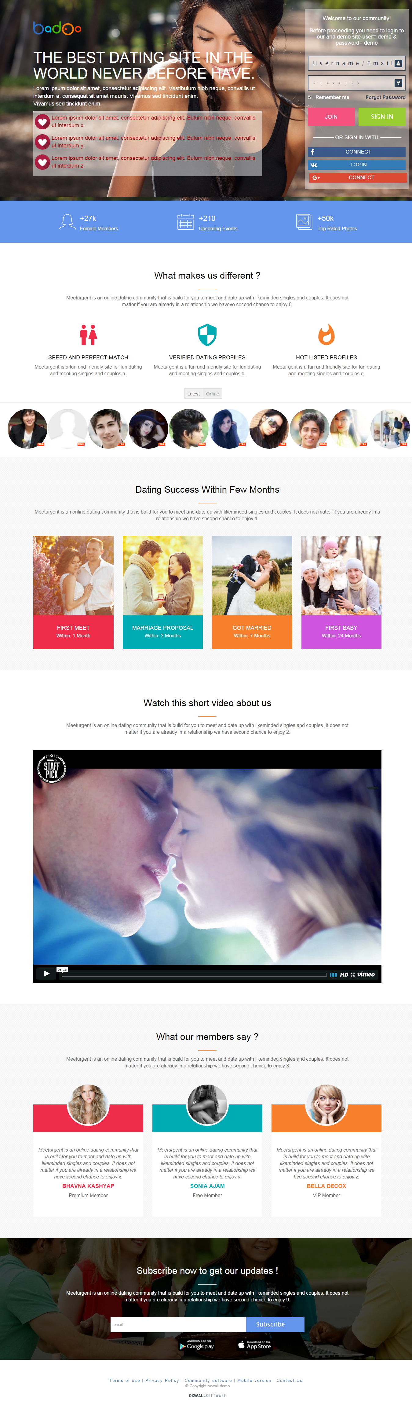 Oxwall dating site