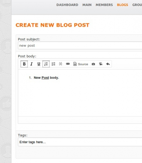 Site CKEditor - Oxwall plugin